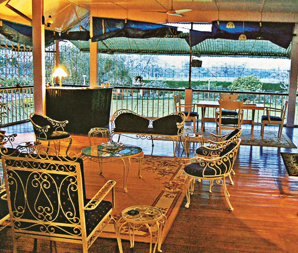 The verandah of a burra bungalow
