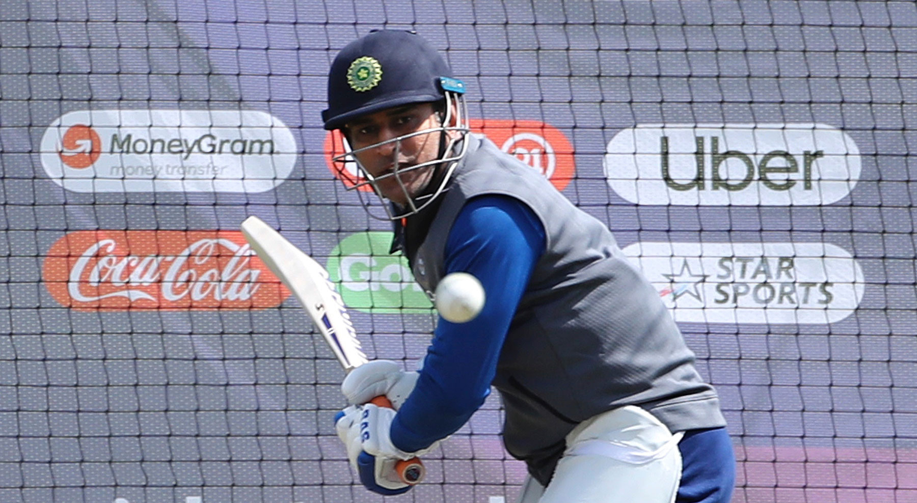 Mahendra Singh Dhoni at The Oval on June 8, 2019.