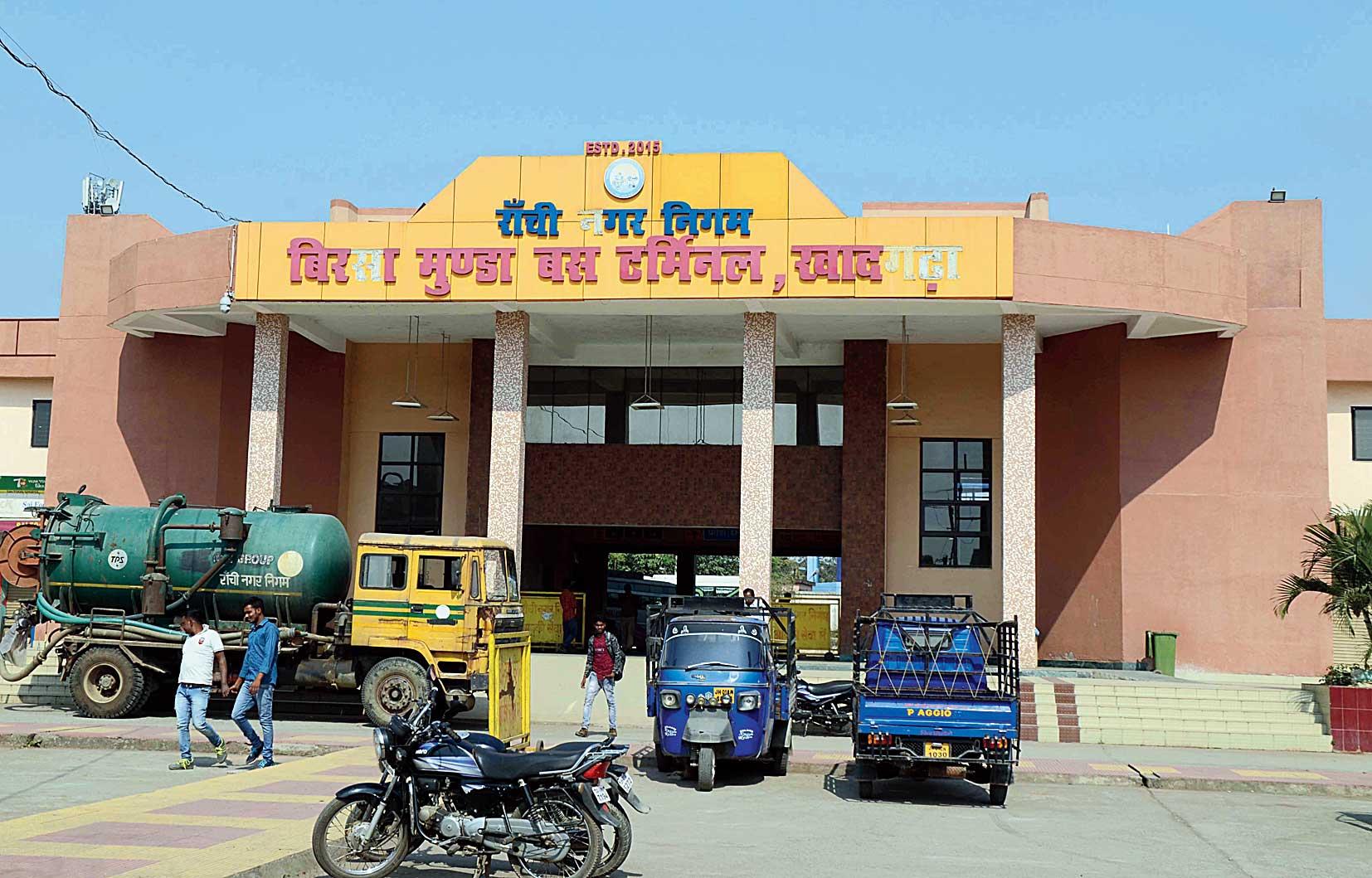 Birsa Munda Bus Terminus in Khadgarha, Ranchi, on Saturday.
