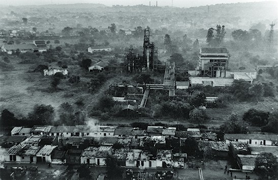 The abandoned site of the Union Carbide factory, Bhopal