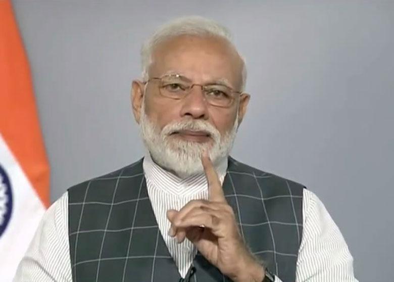 Prime Minister Narendra Modi announces the success of Mission Shakti in New Delhi on Wednesday.