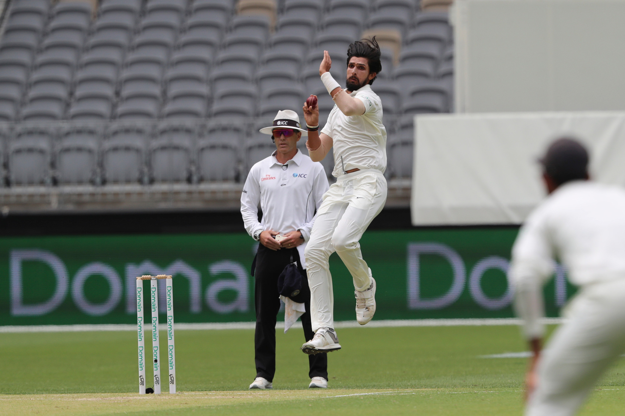 India's Ishant Sharma bowls in the second Test between Australia and India in Perth. The ICC has taken a number of steps to popularize Test matches, including the ICC World Test Championship and day-and-night Test matches.