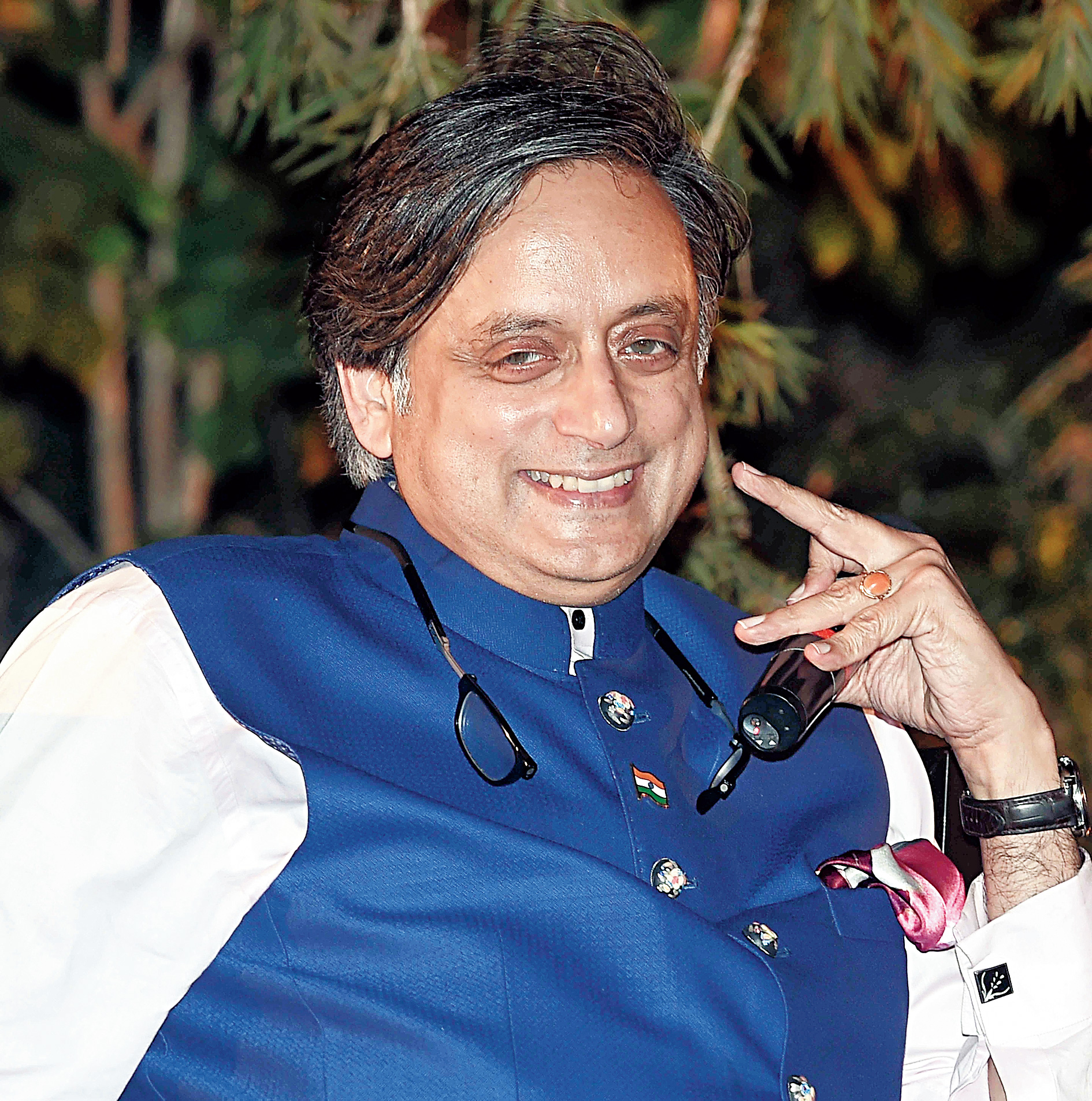 Shashi Tharoor in the city on Saturday.