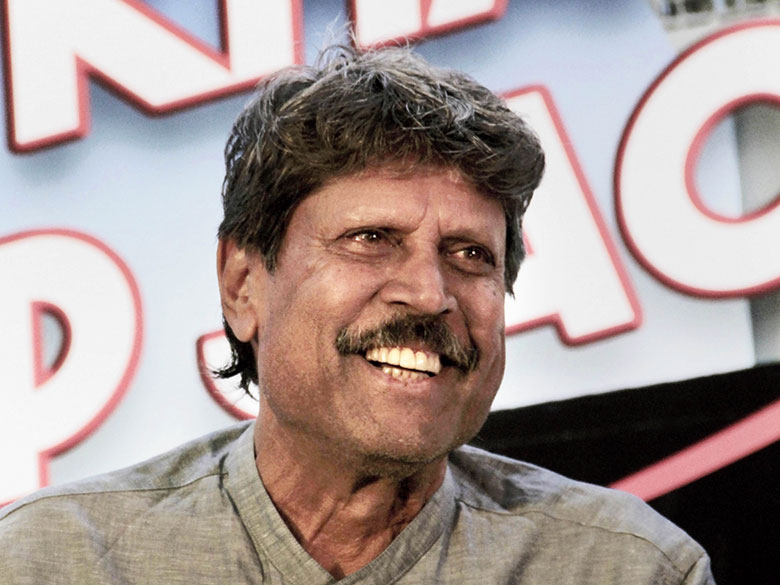 Kapil Dev in New Delhi on Wednesday. (PTI)