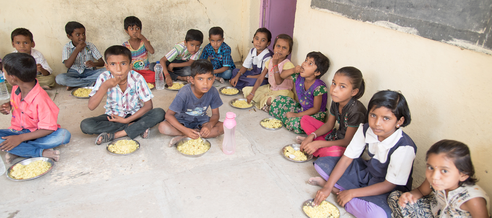 Most mid-day meals at schools across India are completely devoid of any animal protein.