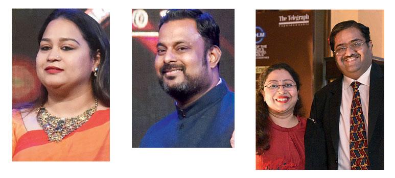 Sponsors: (Left to right) Joita Sen, Manish Iyer, Miraj D. Shah