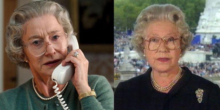 (Left to right) Helen Mirren, and Queen Elizabeth II