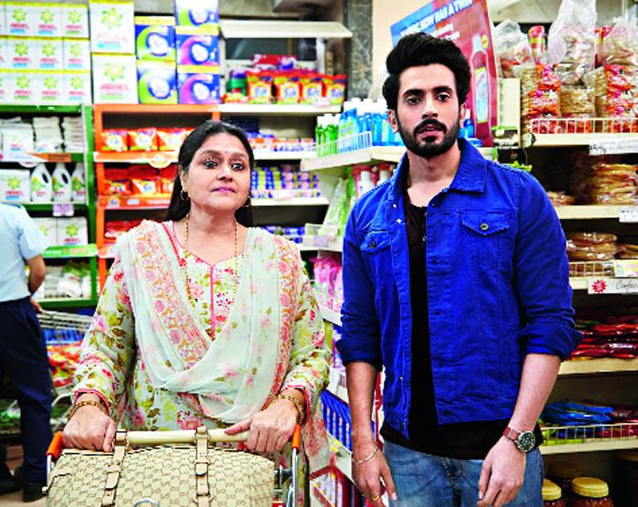 Sunny Singh and Supriya Pathak in Jai Mummy Di