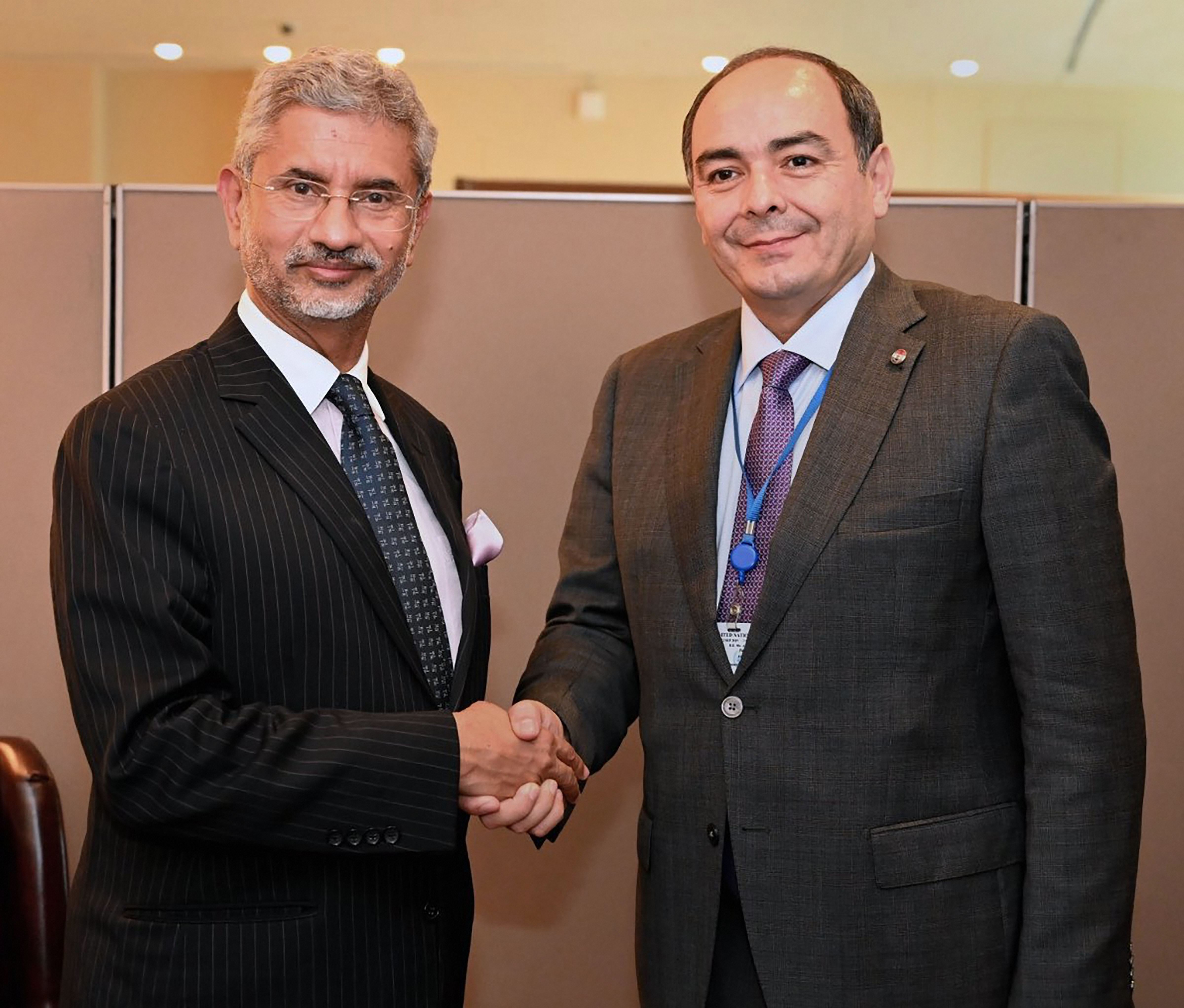 External affairs minister S. Jaishankar meets Paraguayan counterpart Antonio Rivas Palacios on the sidelines of the 74th UN General Assembly, in New York.