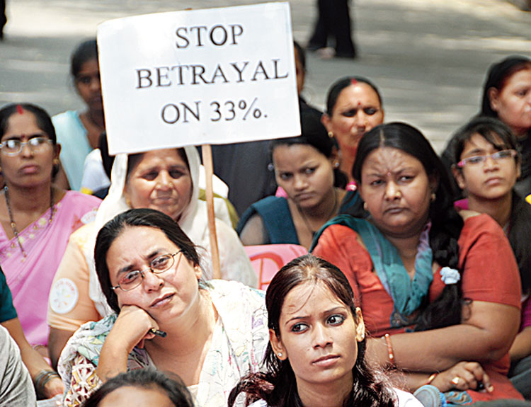 Political parties talk of reservation for women in politics during elections, but after that it is business as usual