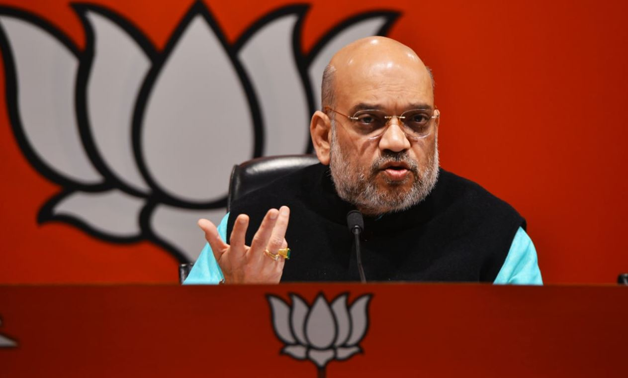 BJP National President Amit Shah during a press conference, in New Delhi on Friday, December 7, 2018