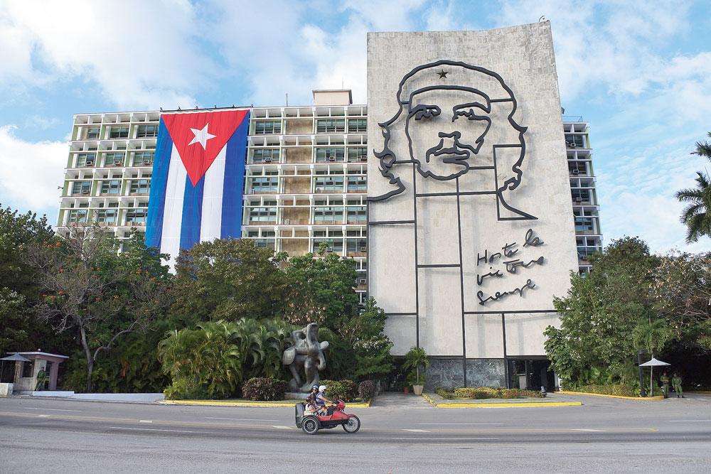 A government building in Plaza de la Revolucion (Revolution Square)