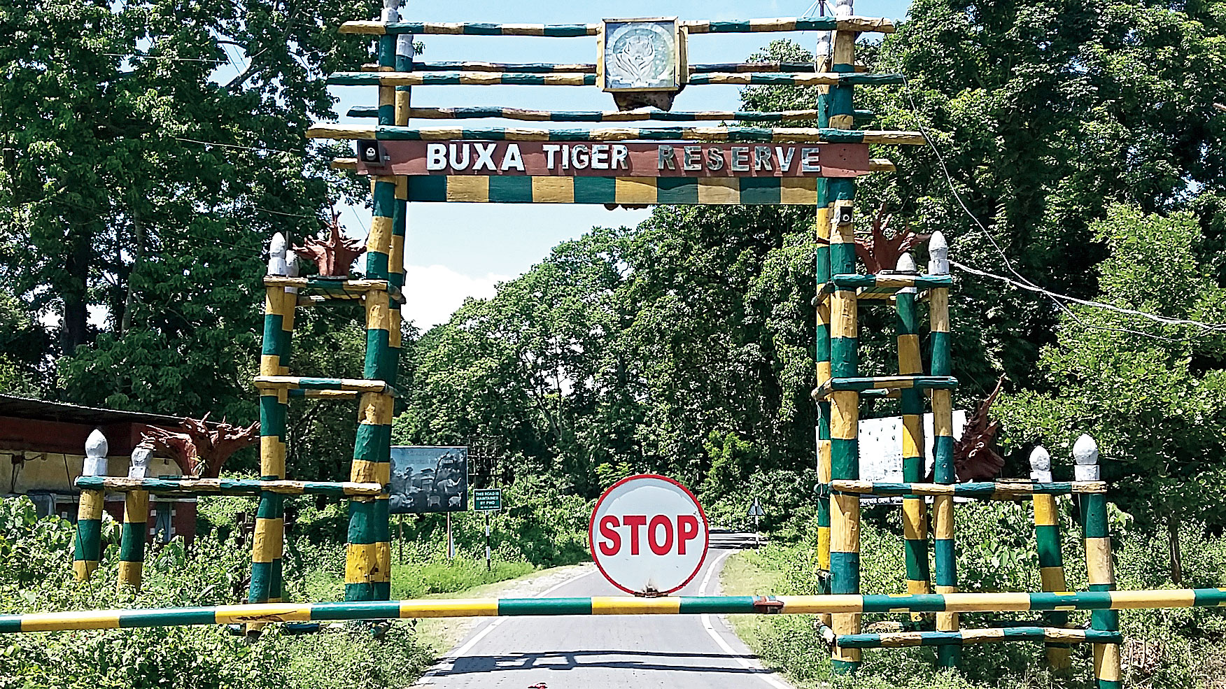 The entrance to the Buxa Tiger Reserve.