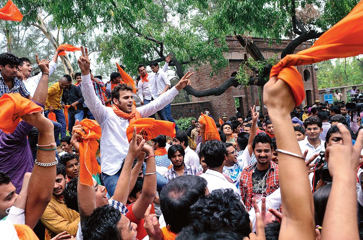 ABVP activists in Delhi University