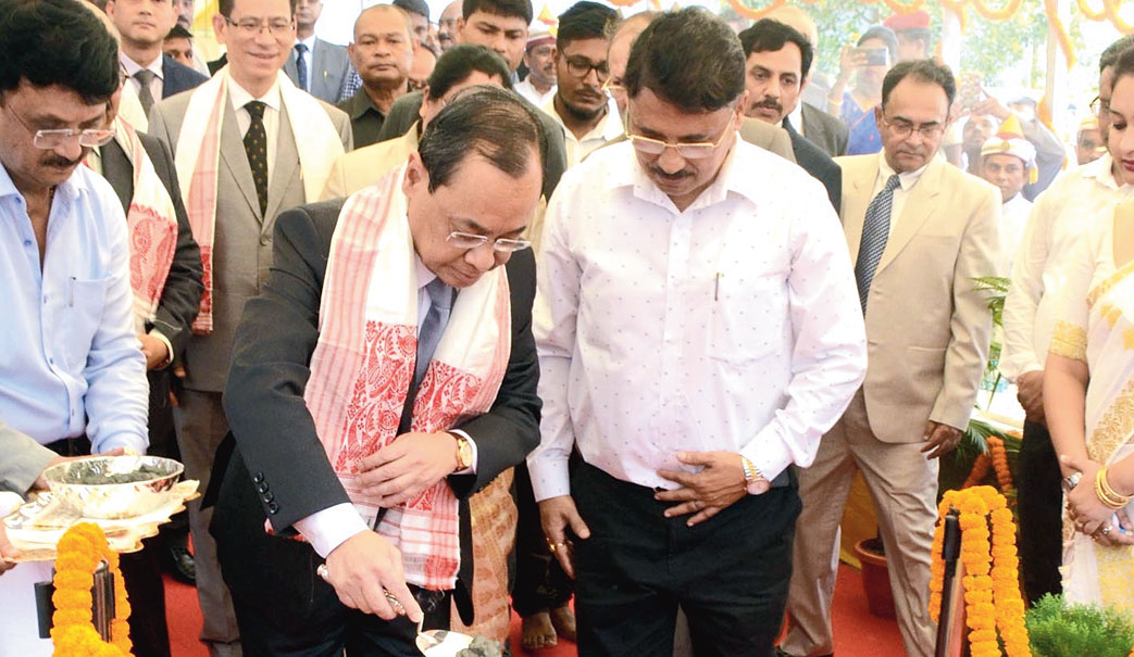 Chief Justice of India Ranjan Gogoi at the event in Guwahati on Sunday.
