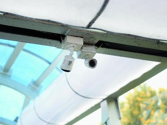CCTV cameras set up on the Alipore overbridge