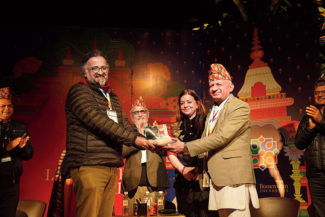 Minister of foreign affairs Nepal, at the Nepal Literary Meet in Pokhara