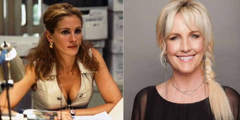(Left to right) Julia Roberts, and Erin Brockovich