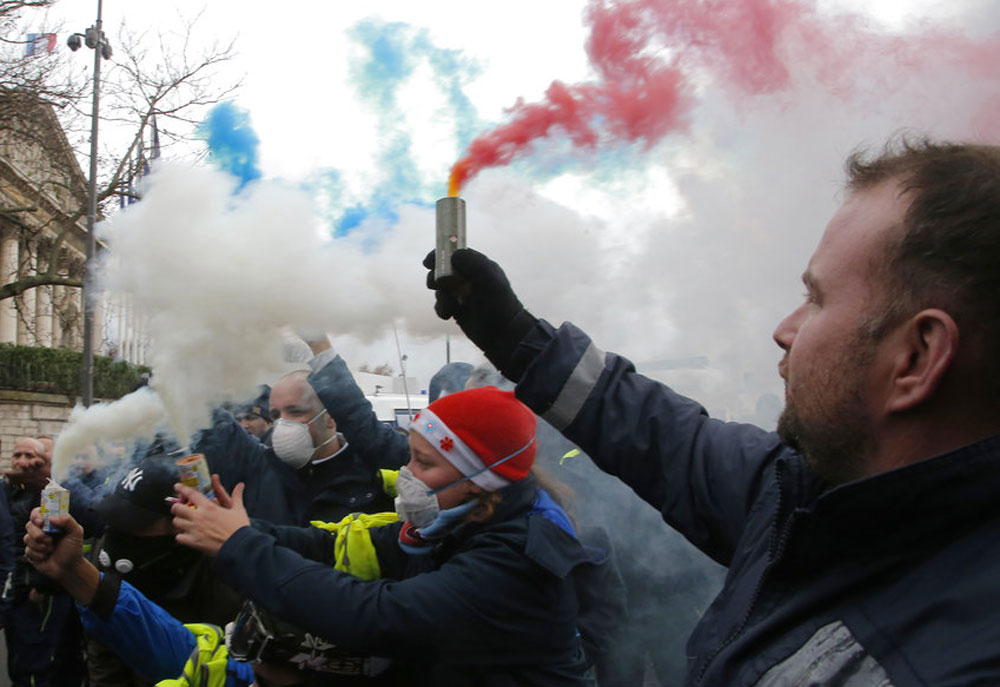 France protests knock wind out of economy