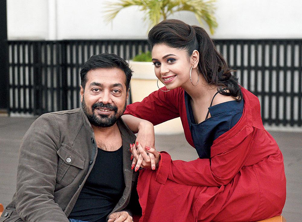 Anurag Kashyap with Tolly actress Ritabhari Chakraborty