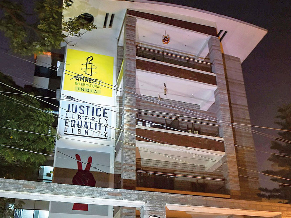 Enforcement Directorate officials raided Amnesty International India's office in Bangalore on October 25 for alleged violation of foreign funding norms