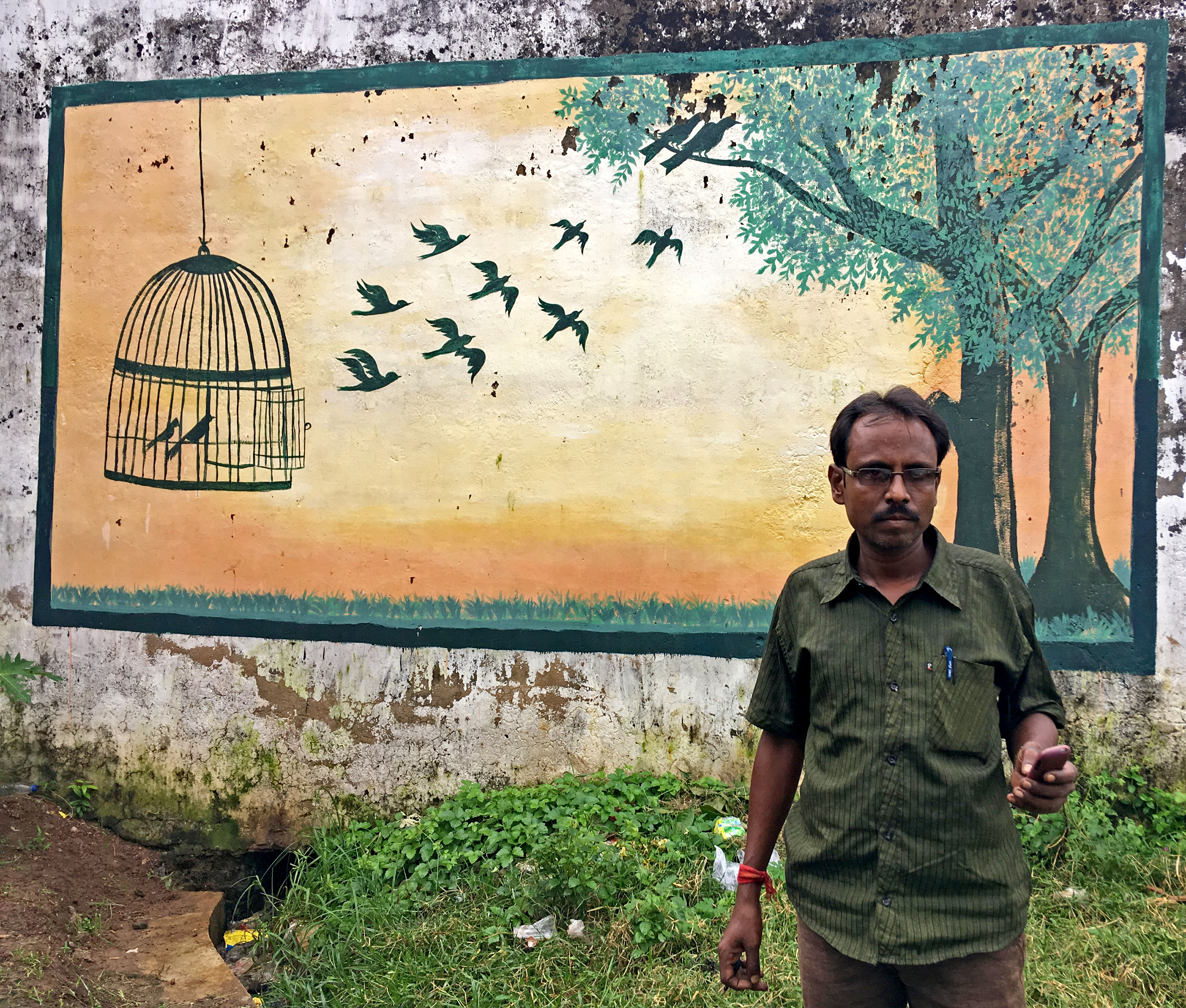 Lifer Chandan Chandra at the Midnapore Open Correctional Home