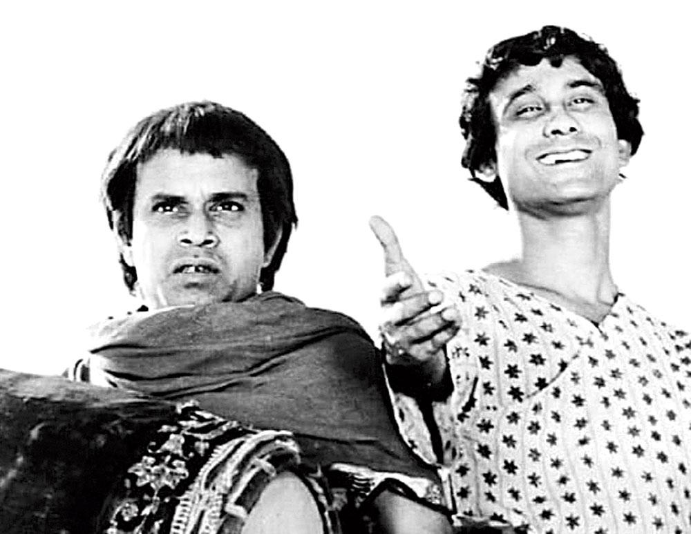 Goopy and Bagha in a scene from Satyajit Ray's classic, Goopy Gyne Bagha Byne