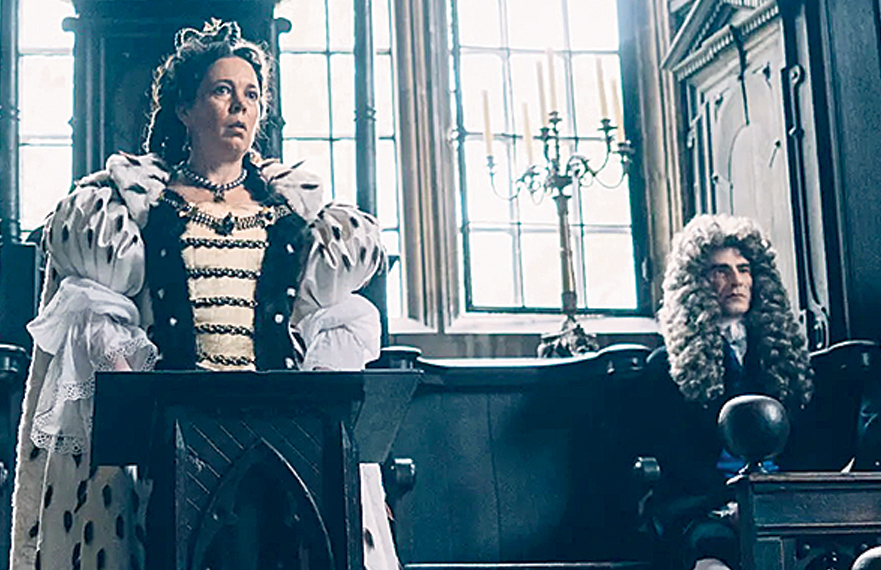 As Queen Anne in The Favourite