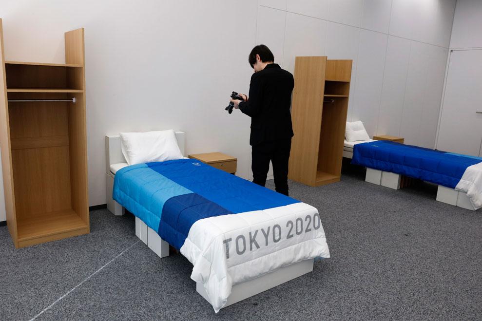 Cardboard beds for Tokyo Village