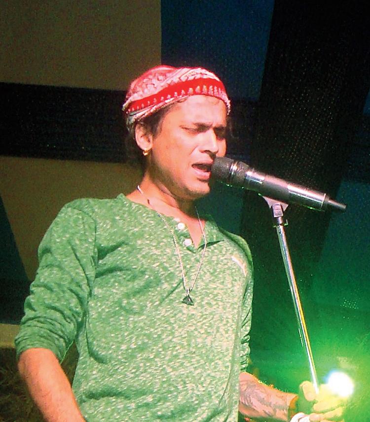 Zubeen Garg performs at an event