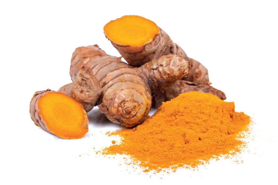 Turmeric has a brightening effect on the skin