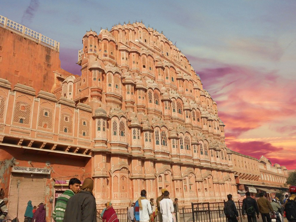 The Hawa Mahal in Jaipur. Like other hotspots in the Pink City, the Hawa Mahal attracts thousands of visitors