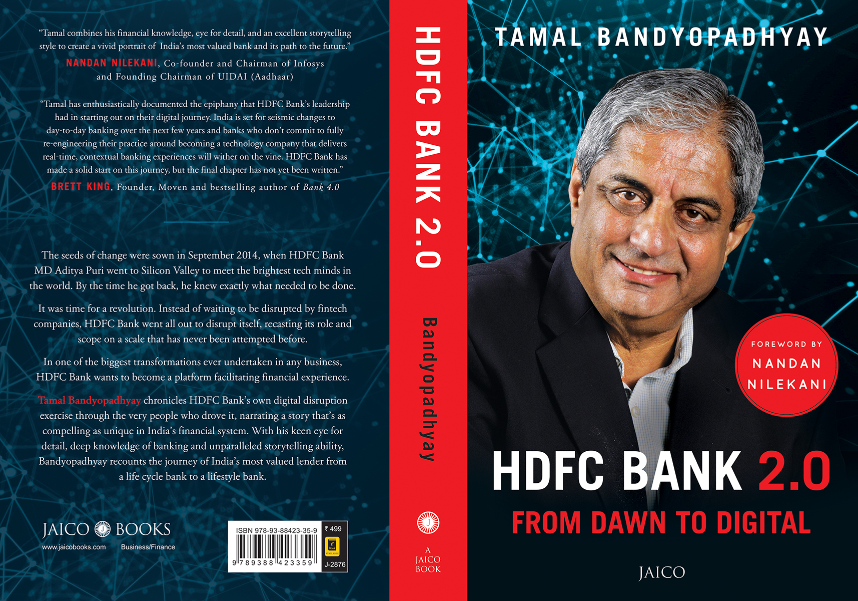 Book cover: HDFC Bank 2.0 -- From Dawn to Digital
