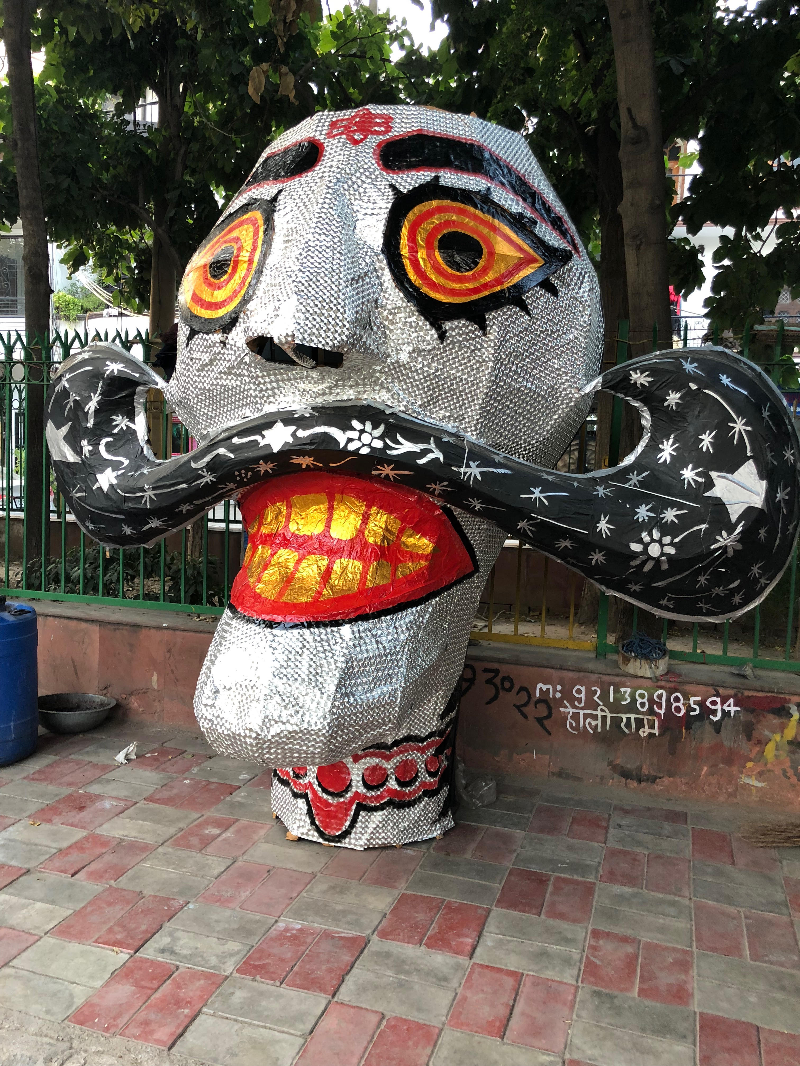A silver Raavan, this year's innovation