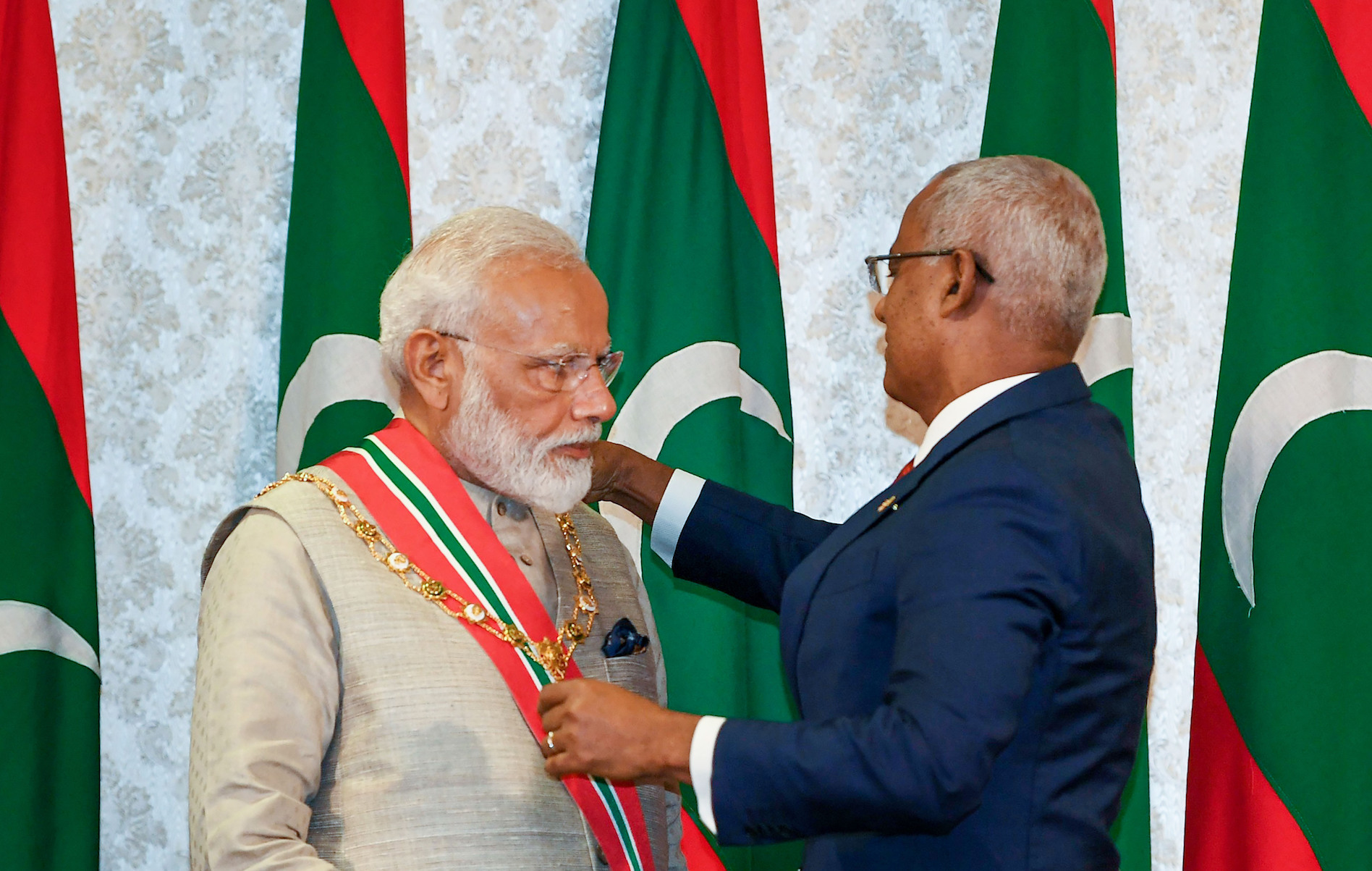 Prime minister Narendra Modi arrived in Colombo on Sunday after a visit to the Maldives. He received the Maldives' highest honour, the Order of the Distinguished Rule of Nishan Izzuddeen, from Maldives' President Ibrahim Mohamed Solih in Male on Saturday, June 8, 2019.