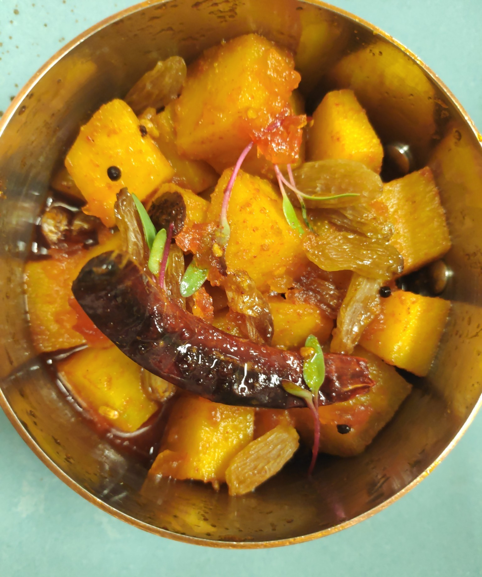 Kaddu ki sabzi or pumpkin curry