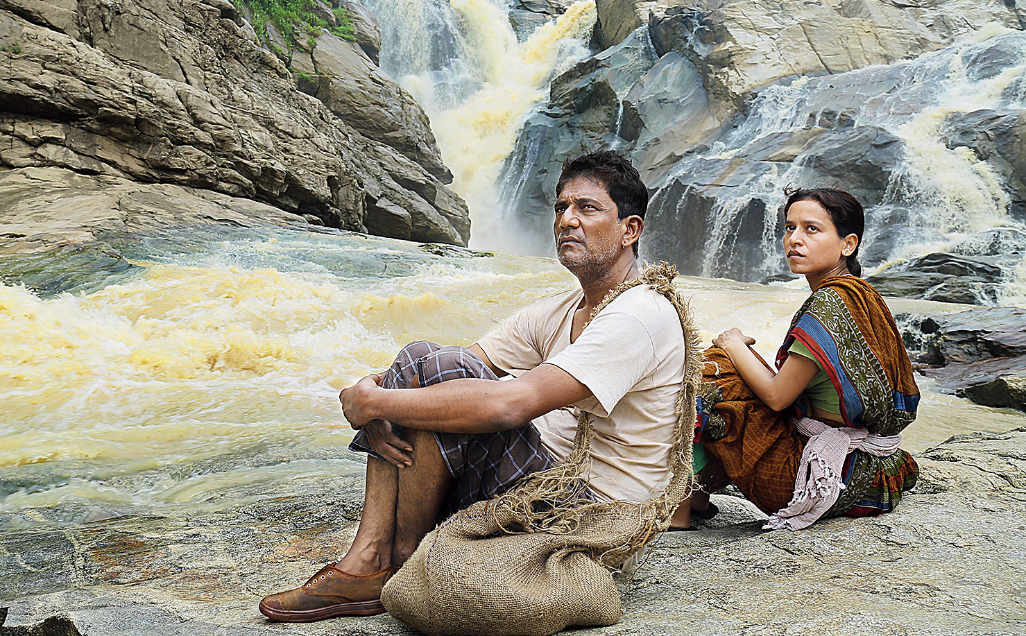 Adil Hussain and Tillotama Shome in a still from Raahgir.