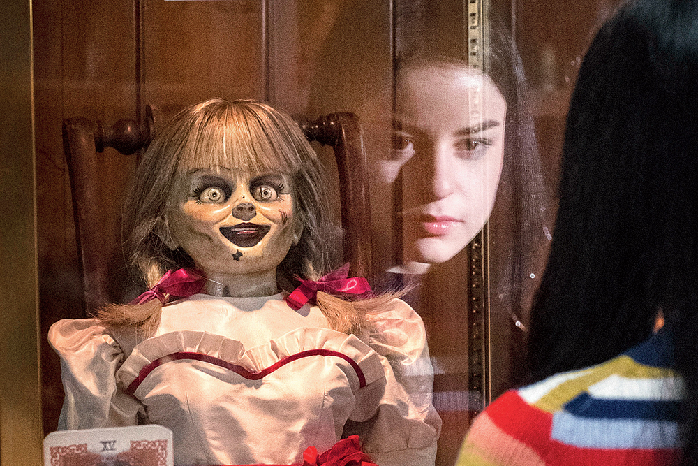 """After warning us that the possessed doll is """"a beacon for other spirits,"""" the demonologists Ed and Lorraine Warren lock her in a special artefacts room in their home alongside other malevolent bits and bobs"""