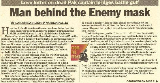 Kargil reports from 1999: The Captain and the Enemy