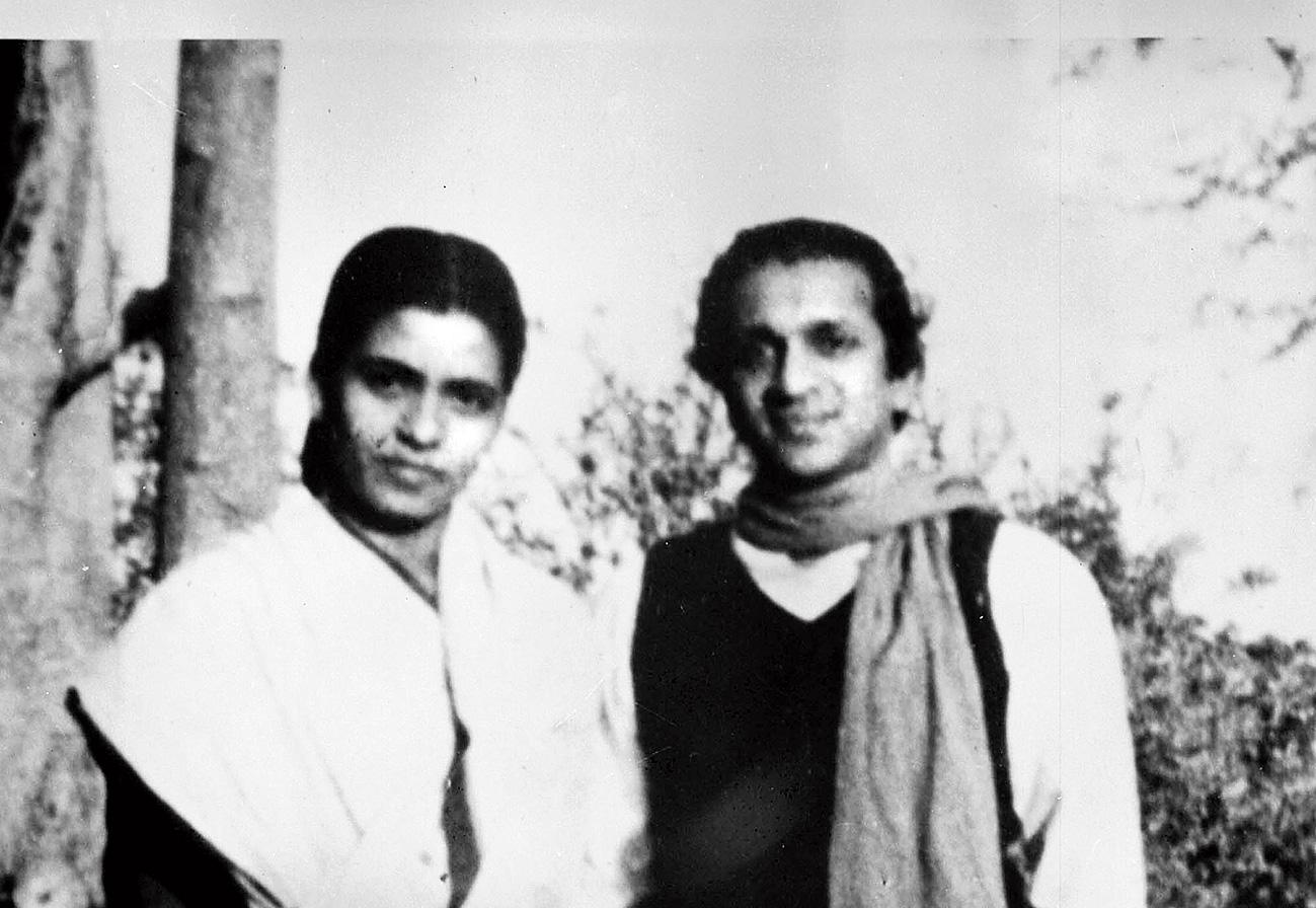 Annapurna Devi with Ravi Shankar.