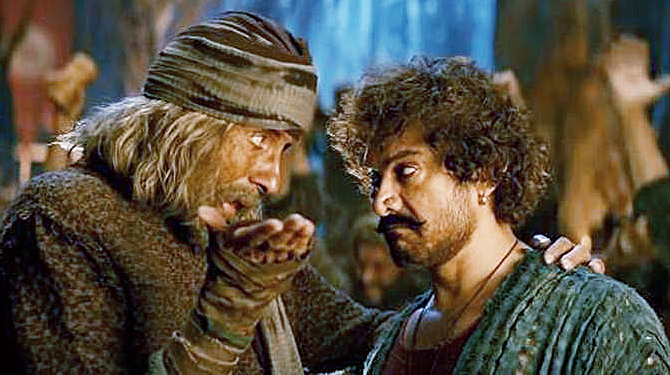 Amitabh Bachchan and Aamir Khan in Thugs of Hindostan