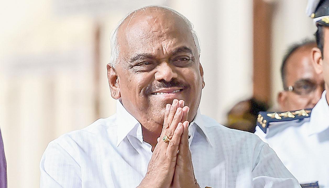 Karnataka Assembly Speaker Ramesh Kumar at Vidhana Soudha in Bangalore on July 11.