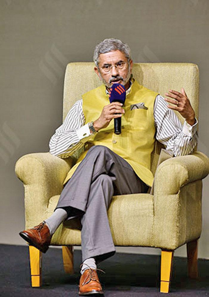 External affairs minister S Jaishankar during the 4th Ramnath Goenka Memorial Lecture in New Delhi on November14.
