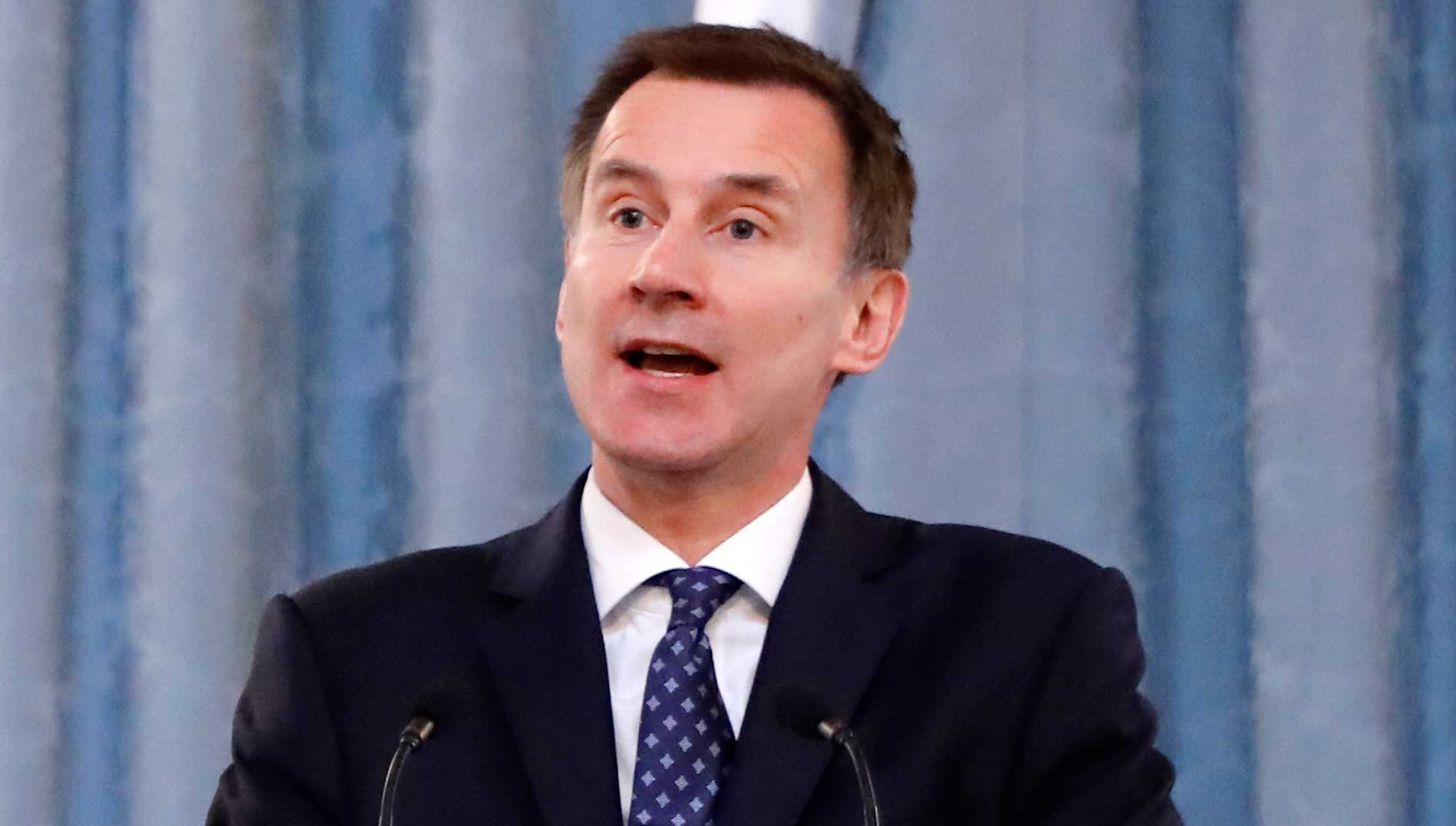 British foreign secretary Jeremy Hunt in London.