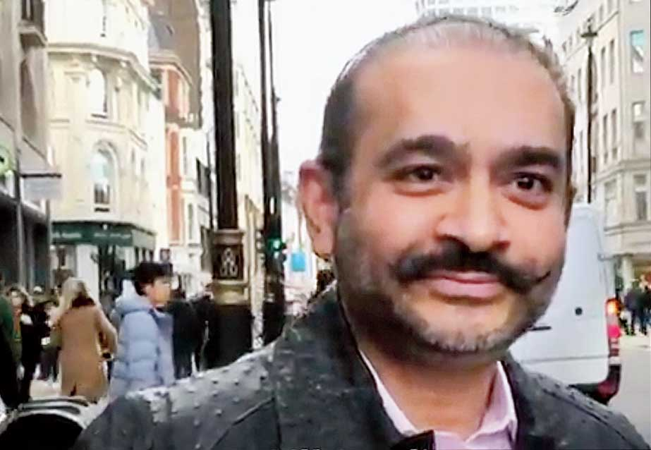 Nirav Modi on Oxford Street in London.
