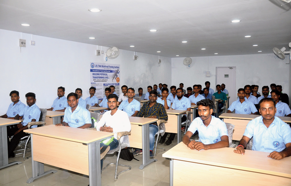 Trainees of JN Tata Vocational Training Institute at Jamadoba in Dhanbad on Thursday