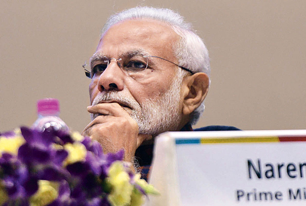 PM Modi at an event in New Delhi on Wednesday.
