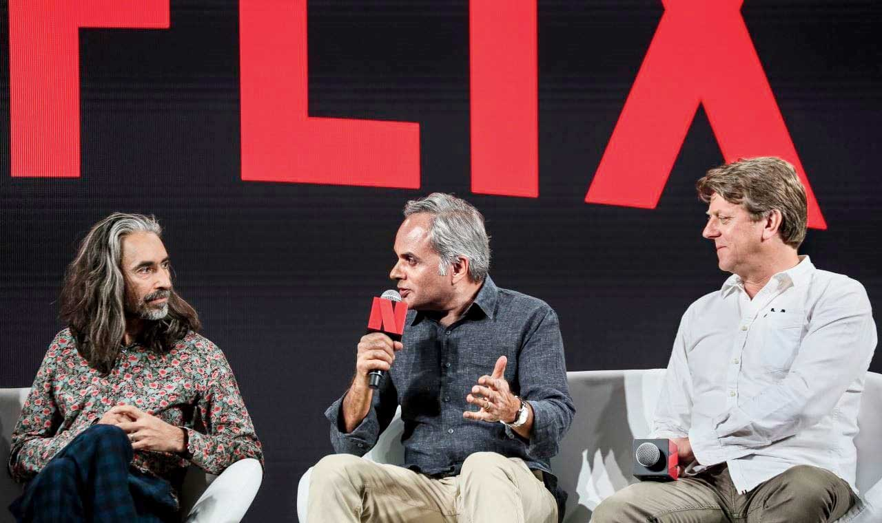 (L-R) Anand Tucker, Udayan Prasad and Marston Bloom at See What's Next Asia in Singapore