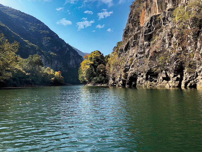 The impressive Matka Canyon can be visited in a day trip from Skopje