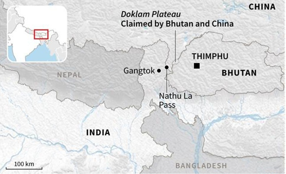 The most recent flare-up of 2017 was in the Doklam area, which is in the vicinity of the India–China–Bhutan trijunction. These differences need to be resolved peacefully by dialogue, until which time both countries must ensure that the status quo is maintained